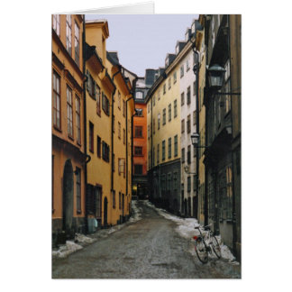 Cartão da cena da rua de Éstocolmo