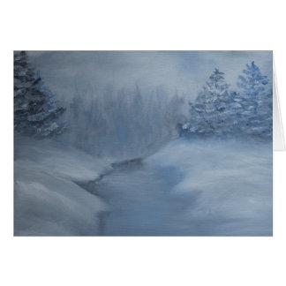 Cartão da cena do inverno