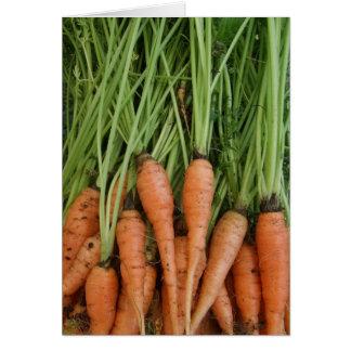 Cartão da cenoura