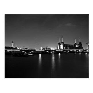 Cartão da central eléctrica de Battersea
