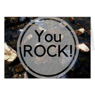 Cartão da chalaça da rocha