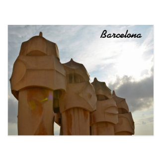 Cartão da chaminé de Antonio Gaudi, Barcelona