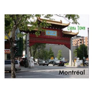 Cartão da cidade de Montreal China Cartão Postal