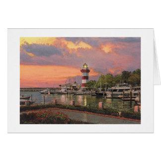 """Cartão da cidade do porto de Paul McGehee """"Hilton"""