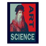 Cartão da ciência da arte de da Vinci do homem de  Cartão Postal