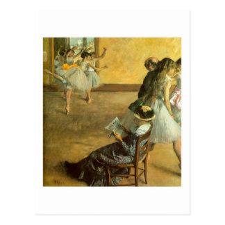 Cartão da classe do balé