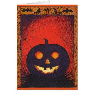 Cartão da colagem da abóbora do Dia das Bruxas