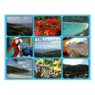 Cartão da colagem da foto de St Thomas