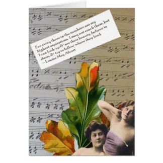Cartão da colagem das citações de Louisa Mae