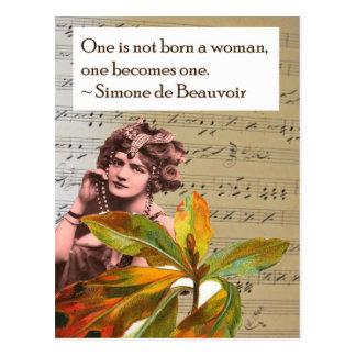 Cartão da colagem das citações de Simone de