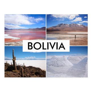 Cartão da colagem de Bolívia Salar de Uyuni