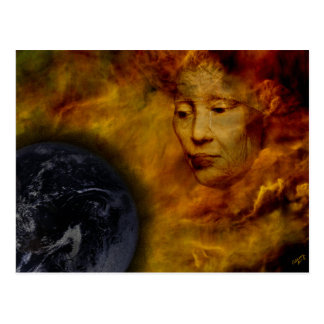 Cartão da colagem de Digitas do ambiente de Gaia