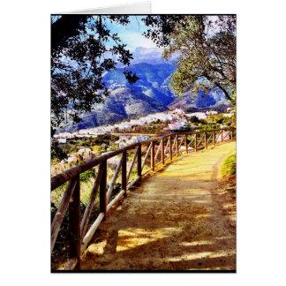 Cartão da coleção da espanha da vista
