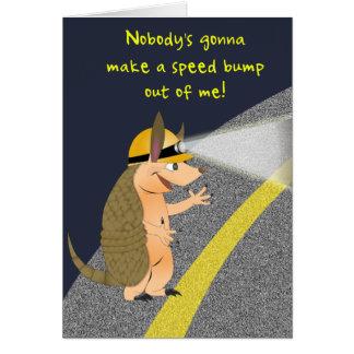 Cartão da colisão de velocidade do tatu
