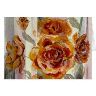 Cartão da composição do rosa amarelo de Zonta