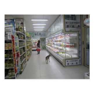 Cartão da compra do cão cartão postal