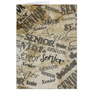 Cartão da conclusão do ensino secundário