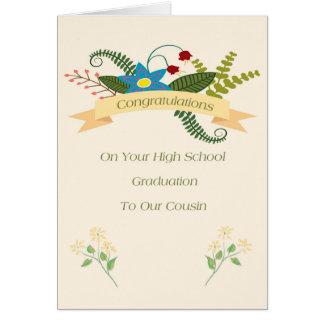 Cartão da conclusão do ensino secundário para o