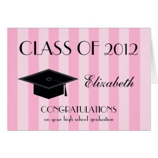 Cartão da conclusão do ensino secundário -- Rosa