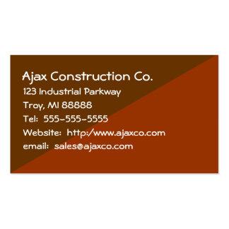 Cartão da construção para o contratante do constru cartao de visita