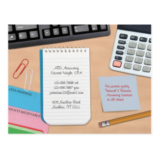 Cartão da contabilidade