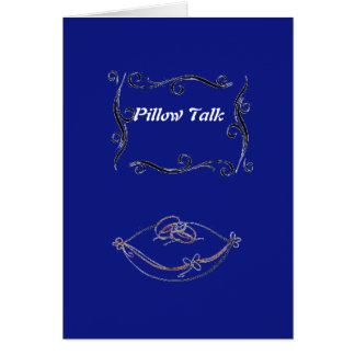 Cartão da conversa do travesseiro