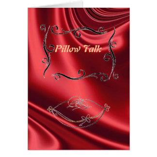 Cartão da conversa do travesseiro (vermelho)