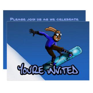 """Cartão Da """"convite"""" 7"""" do aniversário do coelho"""