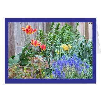 Cartão da cor do jardim do primavera