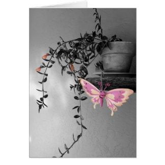 Cartão Da cor do respingo da borboleta fotografia da vida