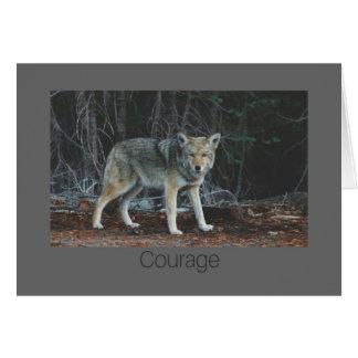 Cartão da coragem
