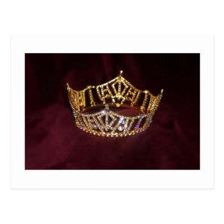 Cartão da coroa da representação histórica