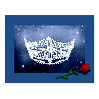 Cartão da coroa da representação histórica cartão postal