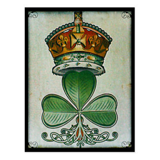 Cartão da coroa & do trevo