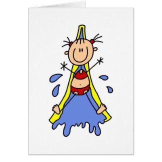 Cartão da corrediça de água