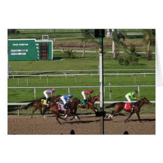 Cartão da corrida de cavalos