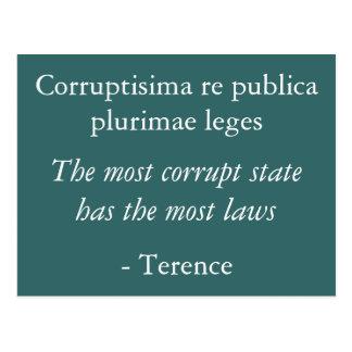 Cartão da corrupção