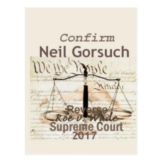 Cartão da corte suprema de Neil GORSUCH