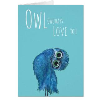 Cartão Da coruja amor sempre você coruja