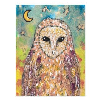 Cartão da coruja de celeiro