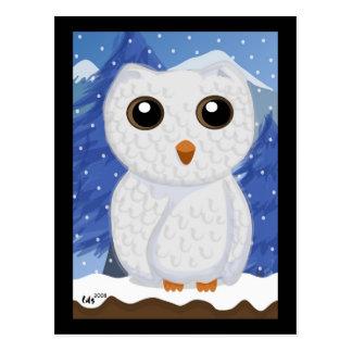 Cartão da coruja de Snowy White