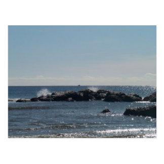Cartão da costa de mar