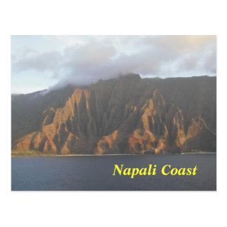 Cartão da costa de Napali