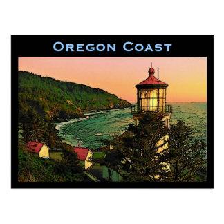 Cartão da costa de Oregon