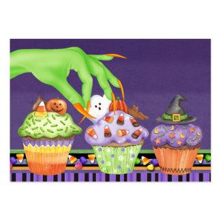 Cartão da cozinha do cupcake do Dia das Bruxas - S Modelos Cartões De Visitas