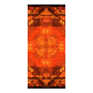 Cartão da cremalheira da arte abstracta da bênção 10.16 x 22.86cm panfleto