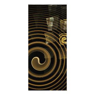 Cartão da cremalheira da arte abstracta da hipnose 10.16 x 22.86cm panfleto