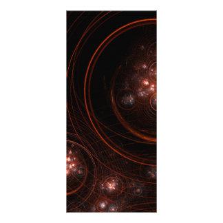 Cartão da cremalheira da arte abstracta da luz das 10.16 x 22.86cm panfleto