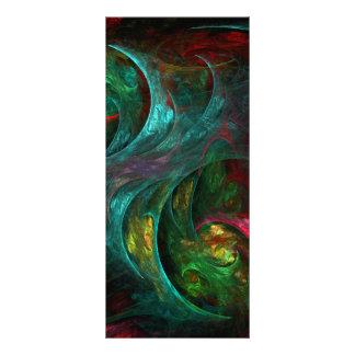 Cartão da cremalheira da arte abstracta da nova da 10.16 x 22.86cm panfleto