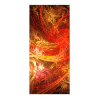 Cartão da cremalheira da arte abstracta da nova do 10.16 x 22.86cm panfleto